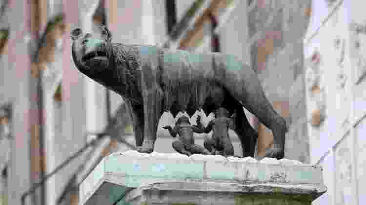 Estátua de Rômulo e Remo, em Roma: referência à origem da cidade - Getty Images/iStockphoto - Getty Images/iStockphoto