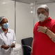 José Luiz Datena tomou a primeira dose da vacina contra a covid-19 em Barueri (SP) - Reprodução/Instagram