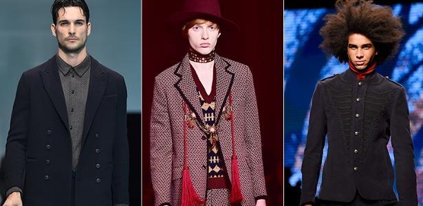 Desfiles de Armani, Gucci e Etro na Semana de Moda Masculina de Milão - AFP