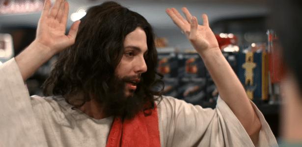 """Fábio Porchat """"vira"""" Jesus no dia em que é anunciado pela Record - Reprodução/Porta dos Fundos"""