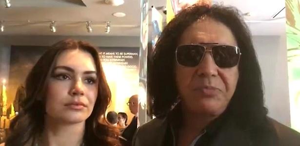 Gene Simmons com a filha Sophie  - James Cimino/UOL