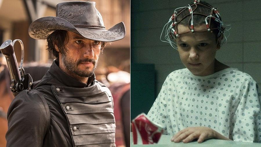 """""""Westworld"""" contra """"Stranger Things"""": o ano do duelo entre Netflix e HBO - Divulgação/Montagem UOL"""
