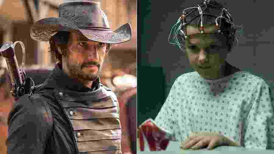 """""""Westworld"""" e """"Stranger Things"""" foram duas das séries mais vistas de 2016 - Divulgação/Montagem UOL"""