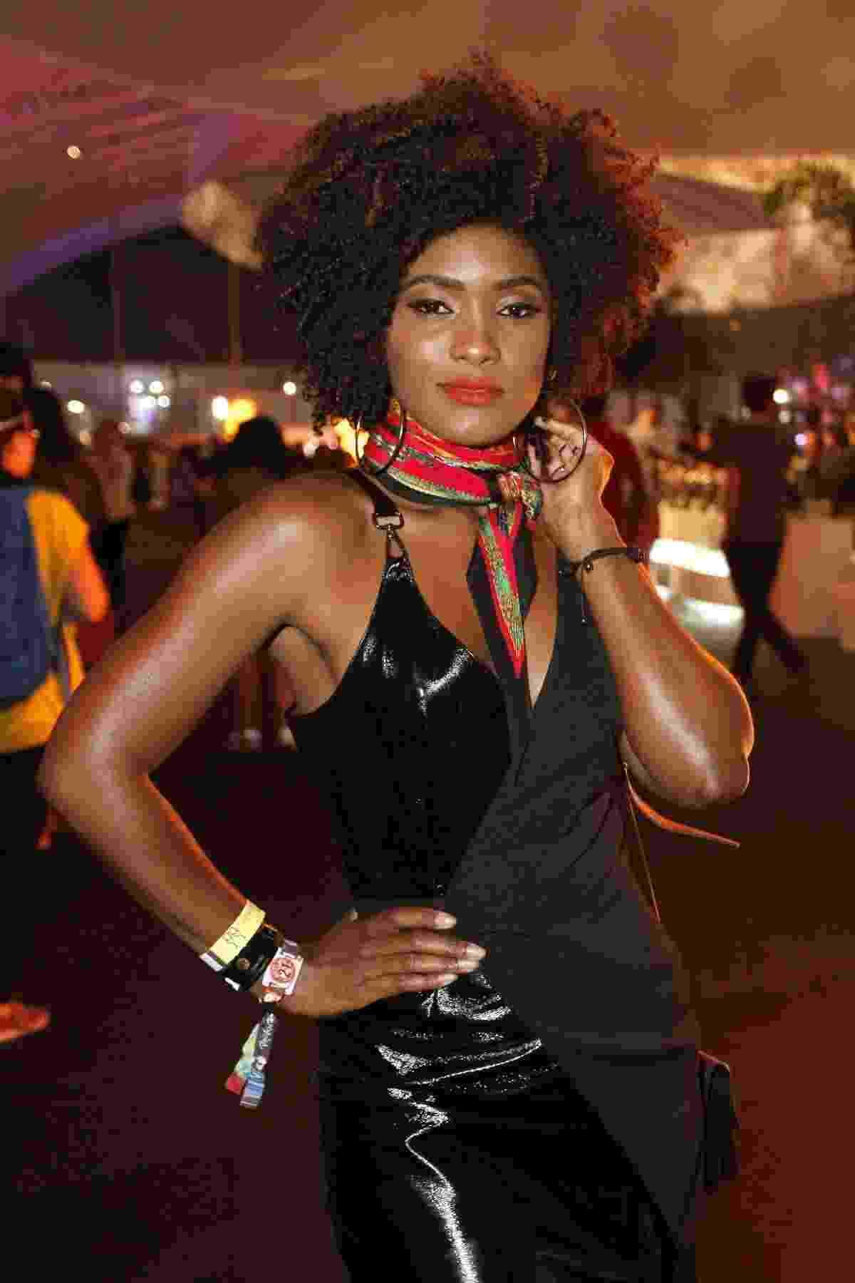 Atriz Erika Januza vai ao Rock in Rio na noite de quinta (21) - Thyago Andrade/Brazilnews