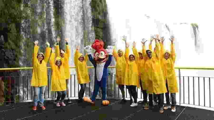 Após viajar pelo Brasil, Pica-Pau revive cena das cataratas em Foz do Iguaçu  - Reprodução/Twitter
