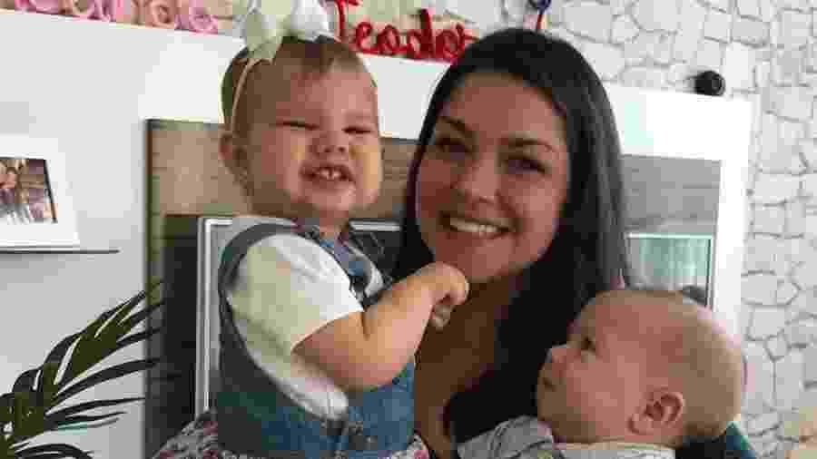 Thais Fersoza com os filhos Melinda e Teodoro - Reprodução/Instagram