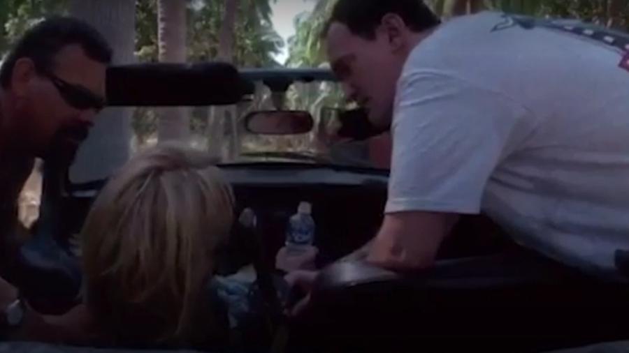 """Imagens do acidente durante as filmagens de """"Kill Bill"""" foram divulgadas apenas agora - Reprodução"""