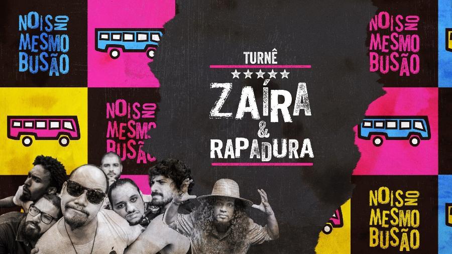 Arte da banda turnê conjunta da banda Zaíra e de Rapadura - Reprodução/Facebook