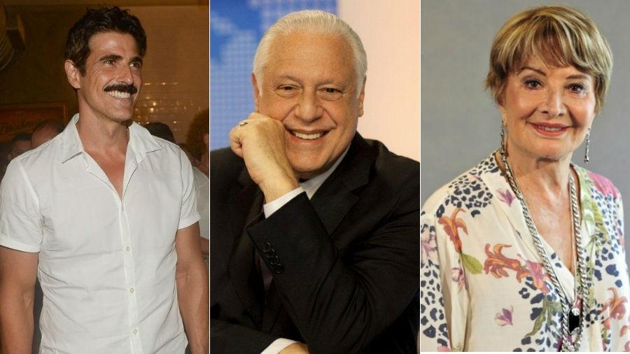 Reynaldo Gianecchini, Antônio Fagundes e Glória Menezes são alguns dos atores que estão longe da TV - Fotomontagem/UOL
