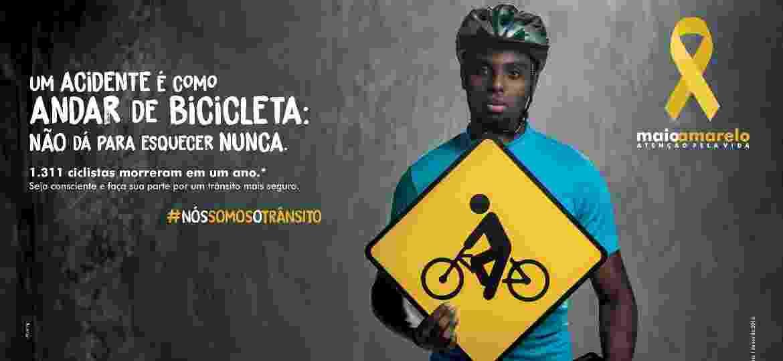 """""""Maio Amarelo"""" em 2018 terá campanha com peças para várias mídias e a hashtag #nossomosotransito - Divulgação"""