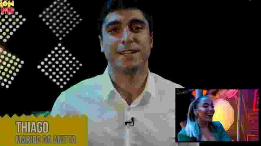 Thiago Magalhães ganhou canção de Anitta, mas se declarou para Belo durante programa - Reprodução