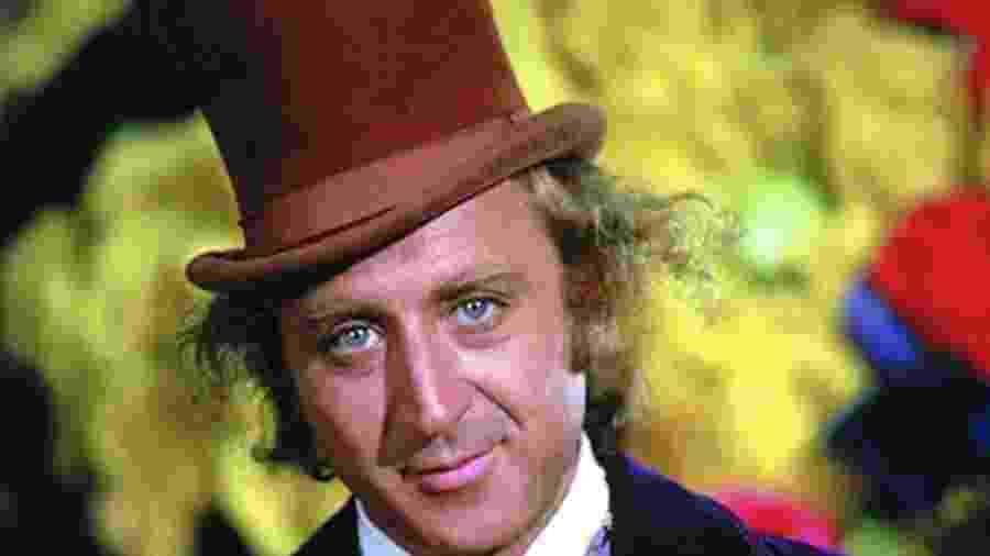 """Gene Wilder em """"A Fantástica Fábrica de Chocolate"""" (1971) - Divulgaçao"""