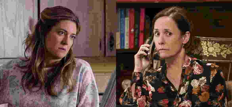 """Zoe Perry como Mary Cooper em """"Young Sheldon"""" e sua mãe, Laurie Metcalf, no mesmo papel em """"The Big Bang Theory""""  - Divulgação/Montagem UOL"""