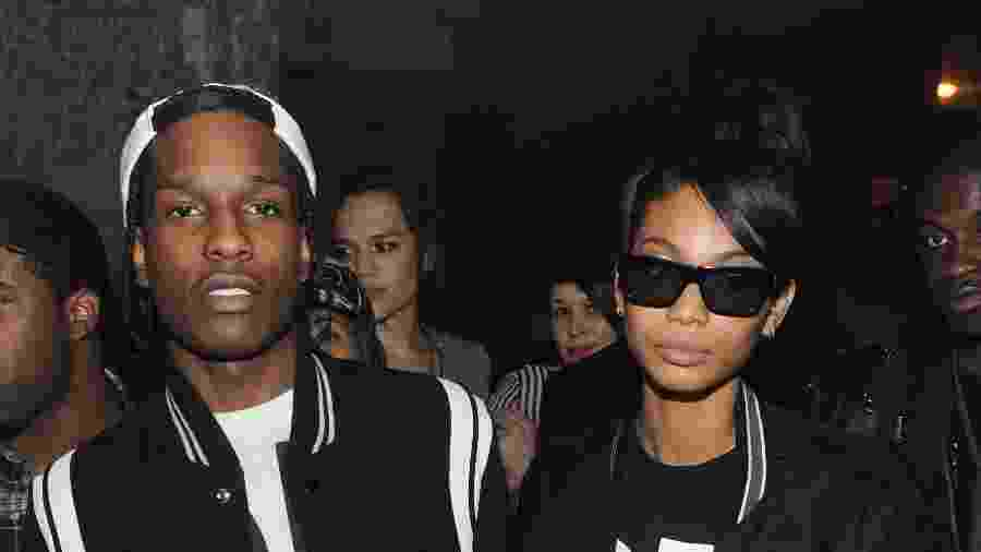 ASAP Rocky com Chanel Iman - Getty Images