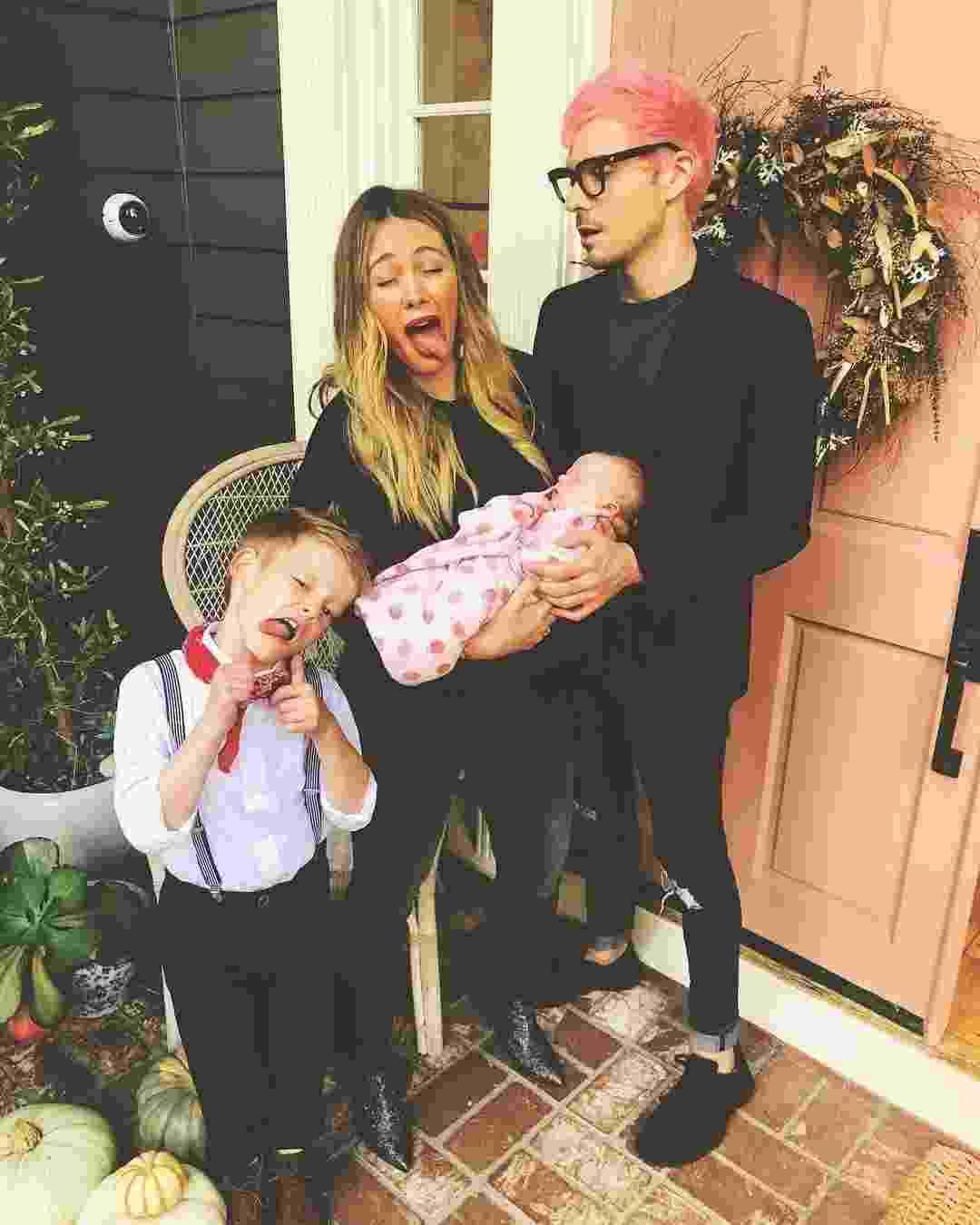 Hilary Duff com o marido e os filhos - Reprodução/Instagram