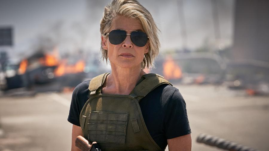 """Linda Hamilton em """"O Exterminador do Futuro 6"""" - Divulgação"""