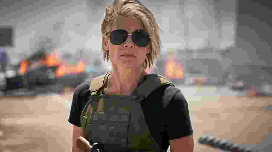 Linda Hamilton em Exterminador do Futuro: Destino Sombrio - Divulgação