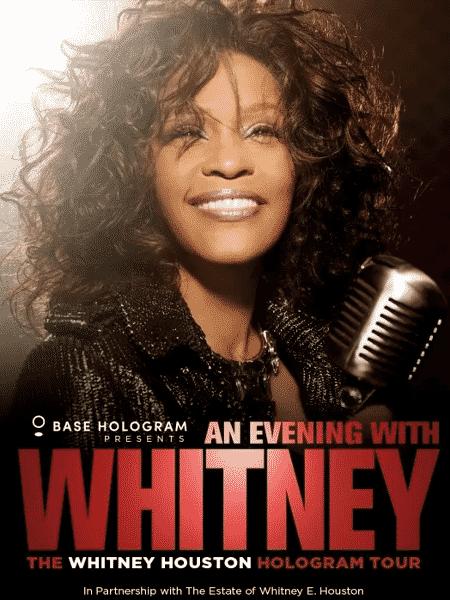 Pôster da turnê Whitney Houston em holograma - Reprodução