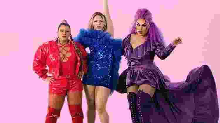 Preta Gil, Glamour Garcia e Gloria Groove no clipe de Só o Amor - Reprodução/ Instagram