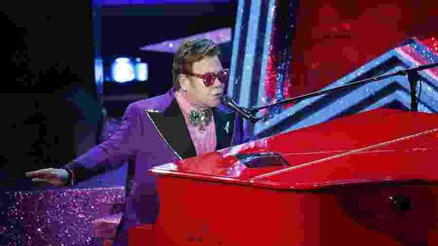 Elton John durante apresentação no Oscar 2020 - REUTERS/Mario Anzuoni