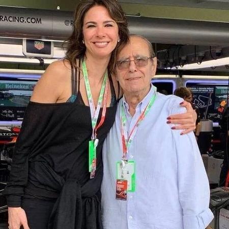Luciana Gimenez e o pai da apresentadora, João Albert Morad - Reprodução/Instagram
