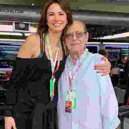 Luciana Gimenez e o pai João Albert Morad, que faleceu em 29 de dezembro - Reprodução/Instagram