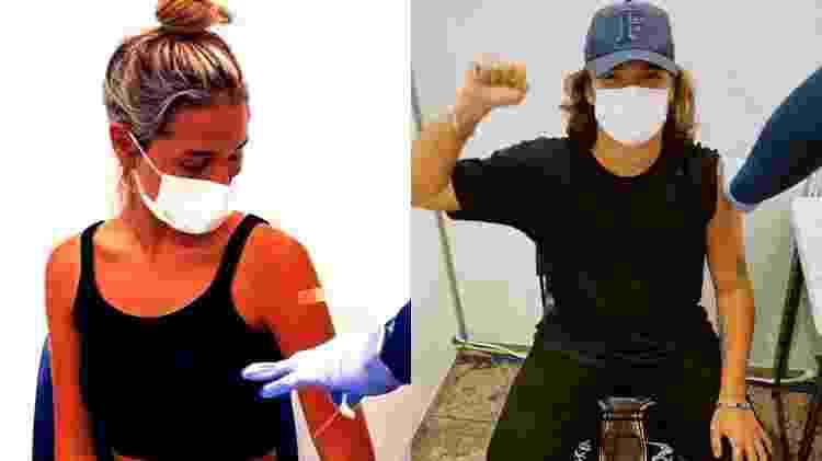 João Figueiredo e Sasha Meneghel tomam vacina contra covid-19 em Nova York - Reprodução/Instagram - Reprodução/Instagram