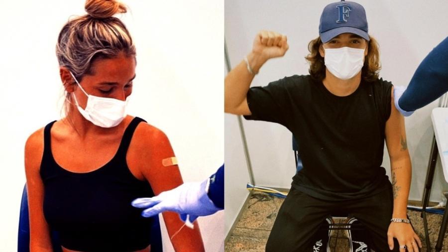 João Figueiredo e Sasha Meneghel tomam vacina contra covid-19 em Nova York - Reprodução/Instagram