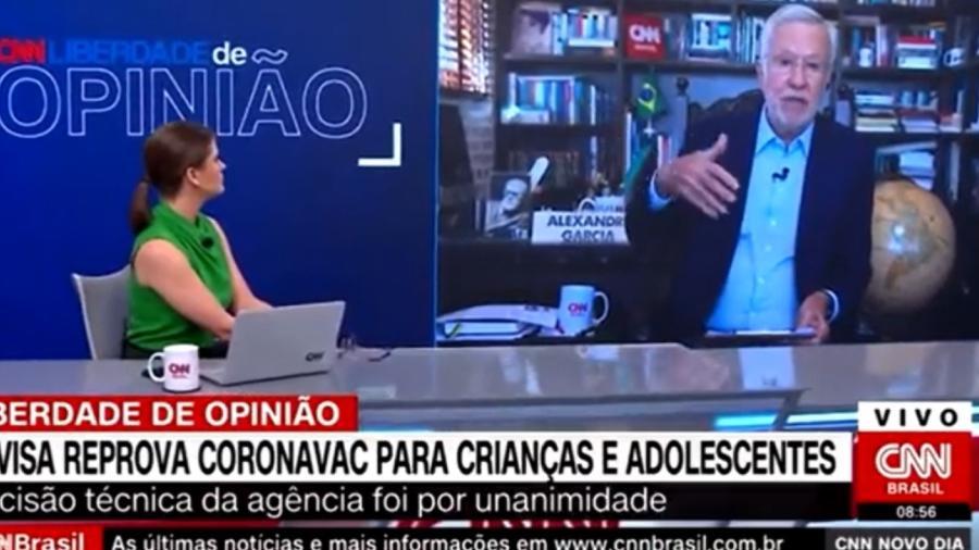 Alexandre Garcia na CNN Brasil - Reprodução/Instagram