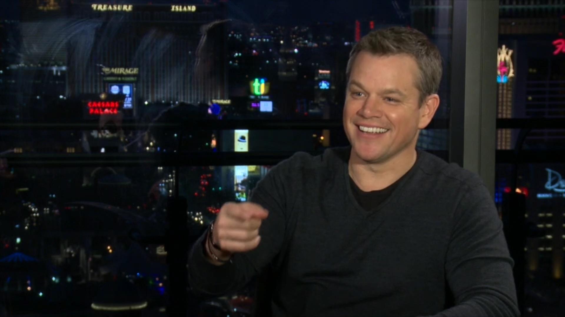 Matt Damon conversa com a reportagem do UOL em Las Vegas, nos Estados Unidos