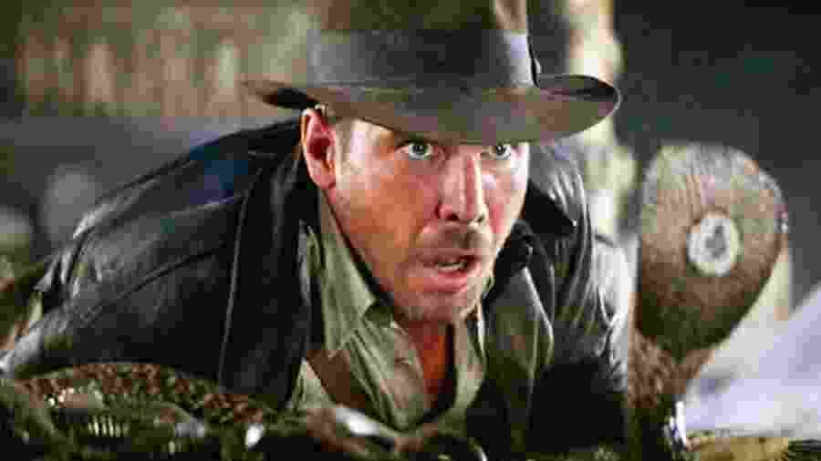 """Cena do filme """"Indiana Jones - E Os Caçadores da Arca Perdida"""", de 1981 - Reprodução"""