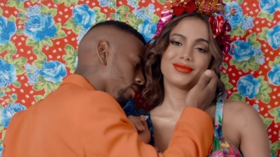 """Anitta e Nego do Borel em cena de """"Você Partiu Meu Coração"""" - Reprodução"""