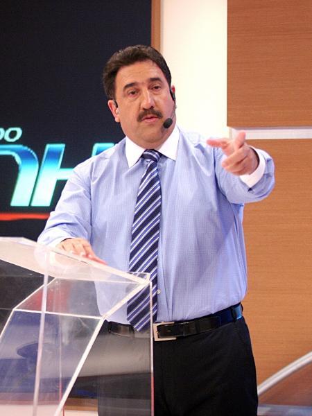 Ratinho em gravação do programa no SBT - Roberto Nemanis/Divulgação SBT