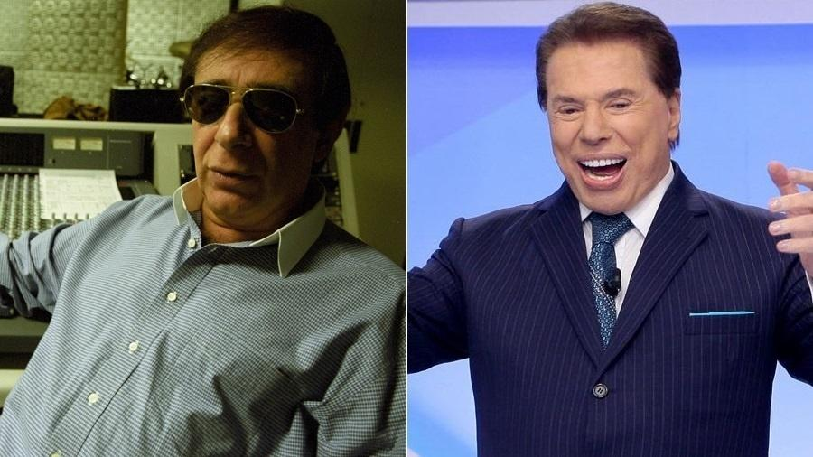 O locutor Lombardi e o apresentador Silvio Santos - Montagem/Folhapress/Divulgação/SBT
