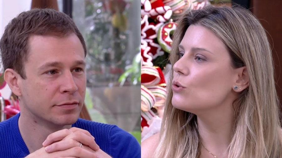 """Tiago Leifert e Daiana Garbin no """"Mais Você"""" - Reprodução/Globo"""