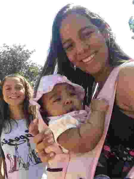 Joana e as filhas Jessica Vitória e Rebecca - Arquivo Pessoal