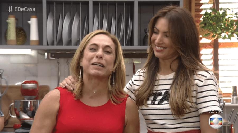 """Cissa Guimarães e Patricia Poeta no """"É de Casa"""" - Reprodução"""