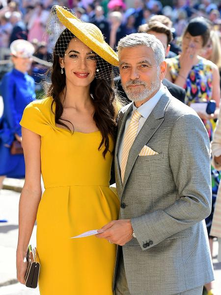 George Clooney e Amal Clooney durante o Casamento Real - Getty Images