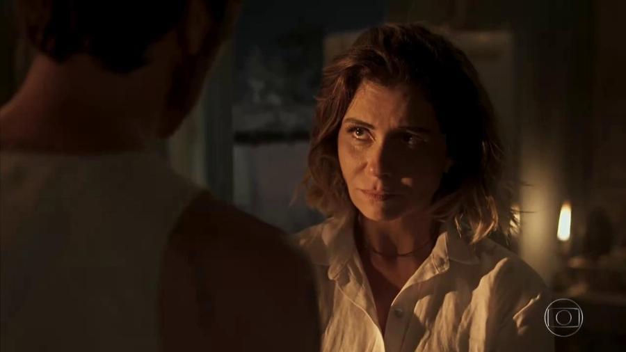 Luzia (Giovanna Antonelli) reencontra Beto Falcão (Emilio Dantas) e descobre sua identidade - Reprodução/Globo