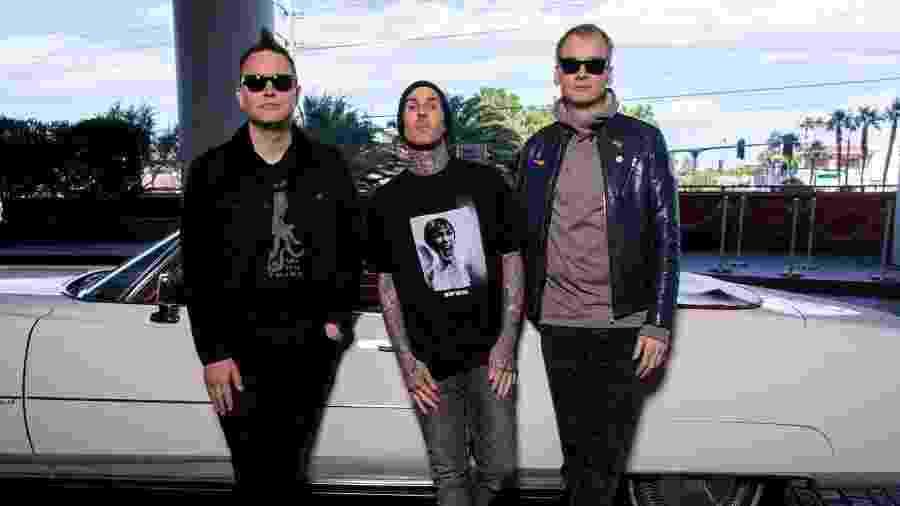 Mark Hoppus, Travis Barker e Matt Skiba - Reprodução