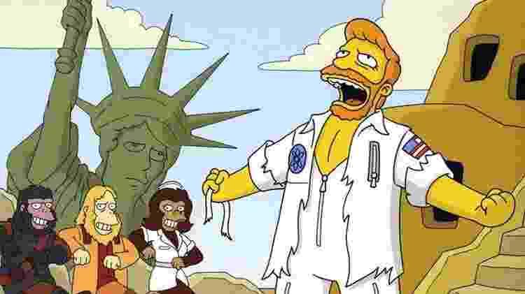 """Musical inspirado em """"Planeta dos Macacos"""" em """"Os Simpsons"""" - Reprodução - Reprodução"""