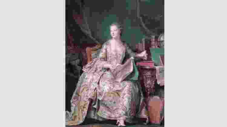 O retrato que Maurice Quentin de La Tour da Madame de Pompadour mostra a amante do rei Louis 15 em tons pasteis - Wikimedia - Wikimedia