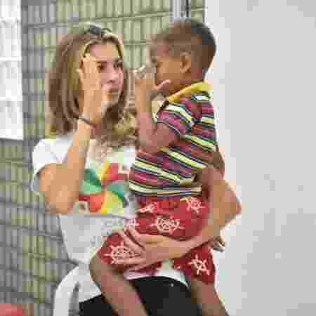 Grazi Massafera visita instituição beneficente em Recife (PE) - Felipe Souto Maior/Brazil News - Felipe Souto Maior/Brazil News