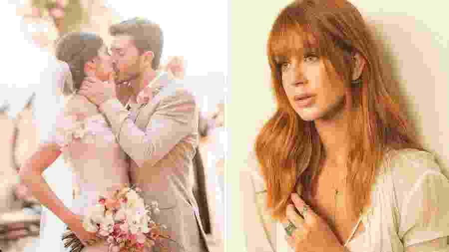 Camila Queiroz se casou com Klebber Toledo, ex de Marina Ruy Barbosa   - Reprodução/Instagram