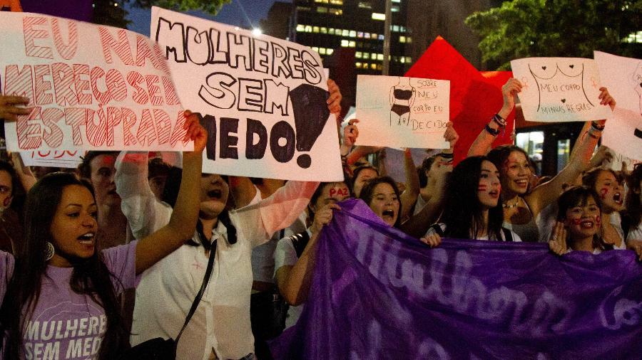 Mulheres ocupam as ruas por mais pautas femininas - Kevin David / A7 Press / Folhapress