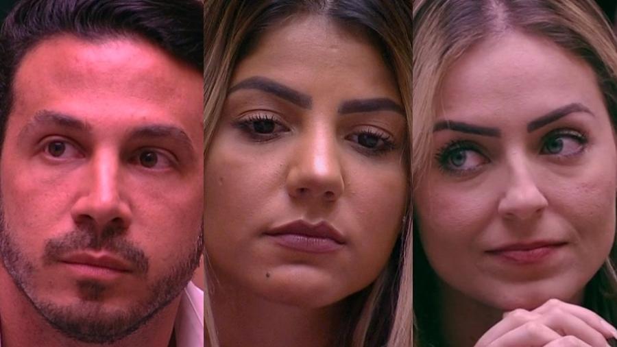 """Gustavo, Hariany e Paula estão no segundo paredão do """"BBB19"""" - Montagem/TvGlobo"""