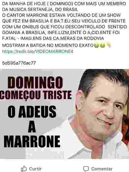 Boato de que Marrone tinha morrido era vírus - Reprodução