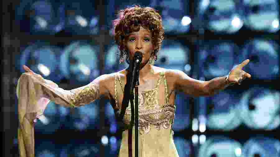 Whitney Houston durante o WMA de 2004 - Pascal Le Segretain/Getty Images