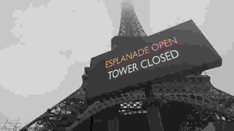 05.12.2019 - As atrações turísticas e museus estão adaptando horários de funcionamento e fechando setores - Ludovic Marin/AFP