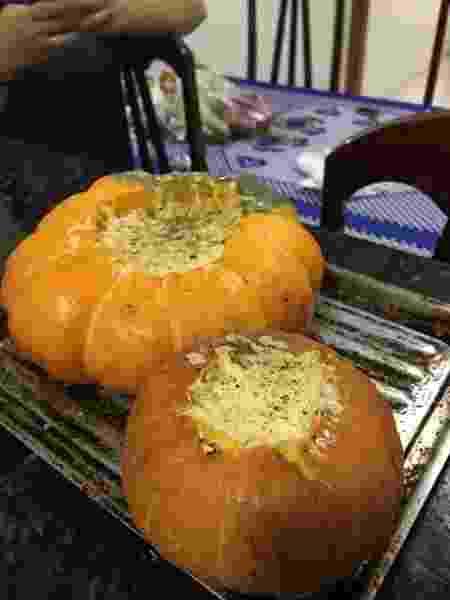 Risoto de abóbora na moranga - Arquivo Pessoal - Arquivo Pessoal